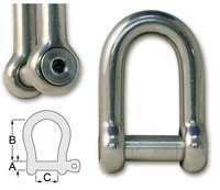 Forged Hex Key D Shackles