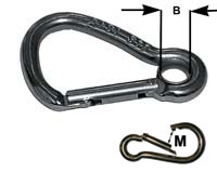 Asymmetric Key Lock Carbine Hook With Eye