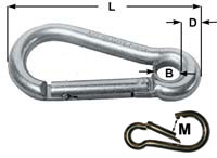 Key Lock Carbine Hooks With Eye