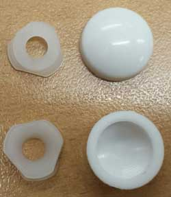 2 Part Surface Screw Cap for No. 6,8 & 10 Csk