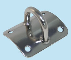 Curved Dinghy Mast Plate Horizontal Eye