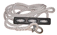 Mooring Rope With Rubber Snubber