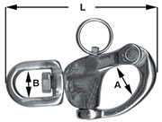Snap Shackle with Swivel 70mm