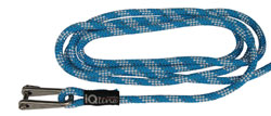 Halyard for furling genoa/foresail with shackle
